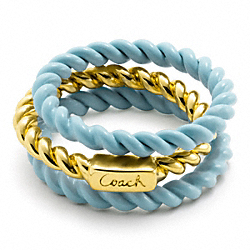 COACH F95584 Sandy Frozen Rope Ring Set
