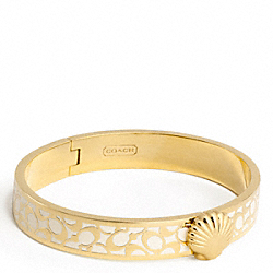 COACH F95597 Thin Hinged Shell Bangle
