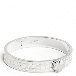 THIN HINGED SHELL BANGLE - f95597 - F95597SVWT