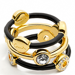 COACH F95745 - STACKED RING SET ONE-COLOR