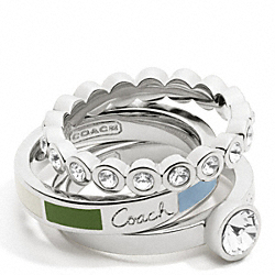 COACH F95756 Coach Legacy Ring Set