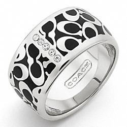 COACH F95783 Signature C Pave Bar Ring