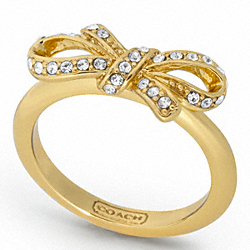 PAVE BOW RING - f95794 - F95794GDGD