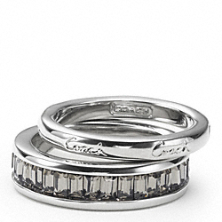COACH F95796 Pave Stacking Ring