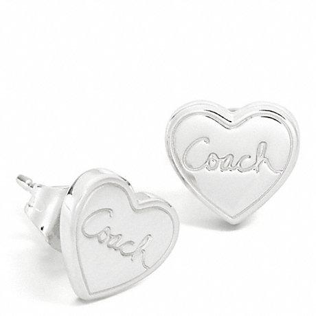 COACH HEART STUD EARRINGS -  - f95847