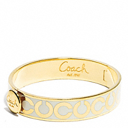 HALF INCH OP ART HINGED BANGLE - f95856 - F95856GDWT