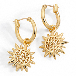 COACH F95927 Sunburst Drop Earrings