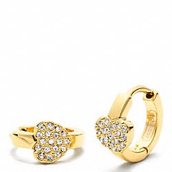 COACH F95950 Heart Huggie Earrings