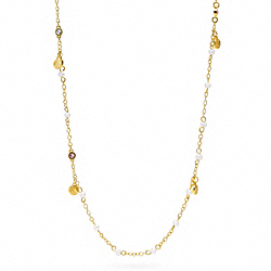 COACH F95968 - MINI COACH SNAP PEARL STATION NECKLACE ONE-COLOR