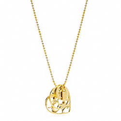 COACH F95976 - COACH HEART CHARM NECKLACE ONE-COLOR
