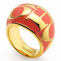 COACH F96019 Coach Wordmark Domed Ring