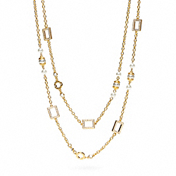 COACH F96039 Pave Stone Wrap Station Necklace
