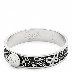 COACH F96045 Half Inch Hinged Pave Butterfly Bangle