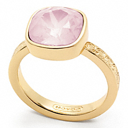 COACH F96053 Square Stone Ring