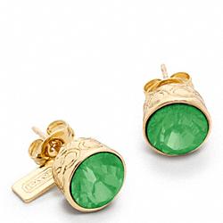 COACH F96054 Stone Stud Earrings