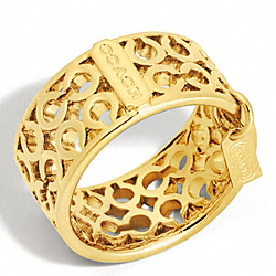 COACH PIERCED OP ART BAND RING - ONE COLOR - F96093