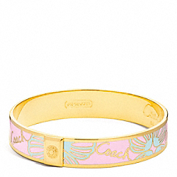COACH F96136 Half Inch Coach Shell Bangle