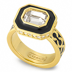 OP ART STONE RING - f96173 - 13558