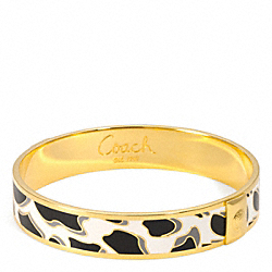 COACH F96180 Half Inch Ocelot Bangle
