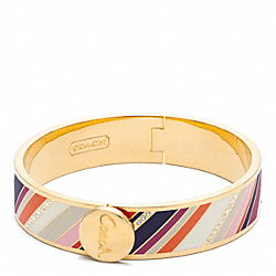 COACH F96183 Half Inch Hinged Legacy Bangle