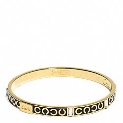 THIN OP ART BAGUETTE BANGLE - f96184 - F96184GDBK