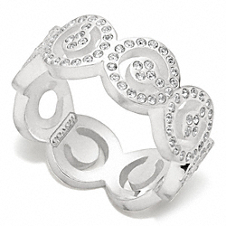 COACH STERLING PAVE OP ART RING - ONE COLOR - F96200