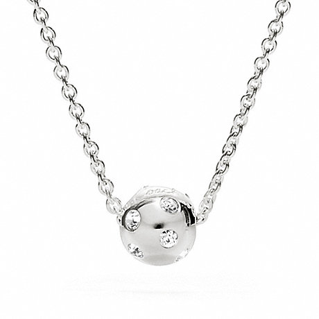 COACH f96203 STERLING PAVE BALL NECKLACE
