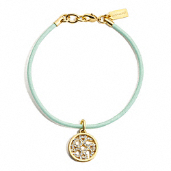COACH F96211 - PAVE OP ART DISC CORD BRACELET ONE-COLOR