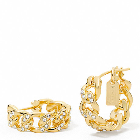 COACH PAVE LINK EARRINGS -  - f96218