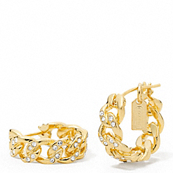 COACH F96218 - PAVE LINK EARRINGS ONE-COLOR