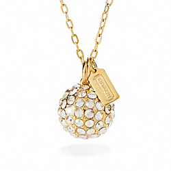 COACH F96220 Large Pave Ball Necklace