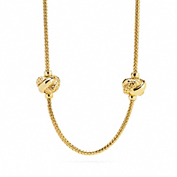 COACH F96238 Knot Station Necklace
