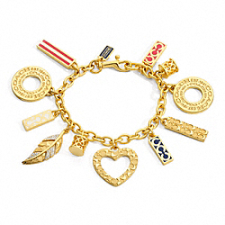 COACH F96243 Legacy Charm Bracelet