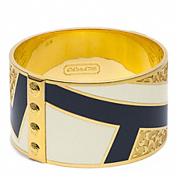 COACH F96260 Deco Bangle GOLD/NAVY