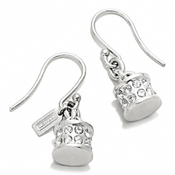 COACH F96266 - CYLINDER CHARM EARRINGS ONE-COLOR