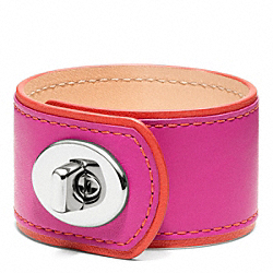 MEDIUM LEATHER TURNLOCK CUFF - f96319 - 11287
