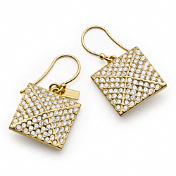 COACH F96321 - PAVE PYRAMID DROP EARRINGS ONE-COLOR