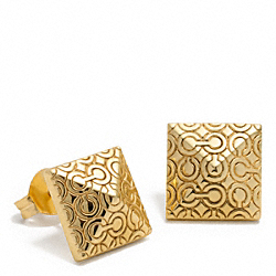 COACH F96323 Op Art Pyramid Stud Earrings