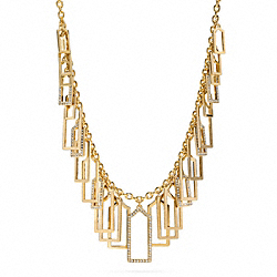 PAVE AND METAL HANGTAG NECKLACE - f96325 - 11290