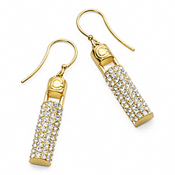 COACH F96336 Pave Deco Bar Earrings