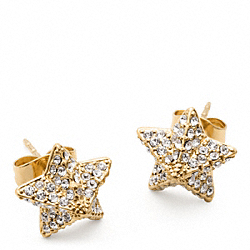 COACH F96343 Pave Pyramid Star Earrings