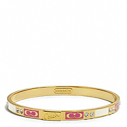 COACH F96347 Thin Pave Patchwork Bangle