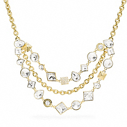 COACH F96350 Crystal Cluster Necklace