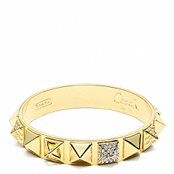 COACH F96351 Pave Pyramid Bangle
