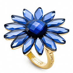 FLOWER COCKTAIL RING - f96358 - F96358GDBL