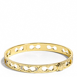 THIN PAVE PIERCED BANGLE - f96369 - F96369GDGD