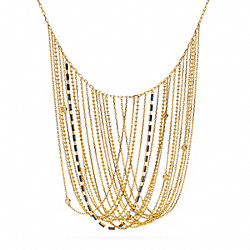 MULTI CHAIN BIB NECKLACE - f96371 - 23936