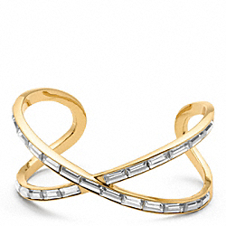 BAGUETTE FIGURE EIGHT CUFF - f96396 - 11298