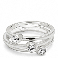 COACH F96398 Sterling Pave Stacking Rings