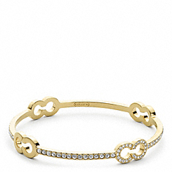 COACH F96410 Pave Op Art Bangle